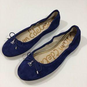 NWB Sam Edelman Blue Suede Felicia Ballet Flat.